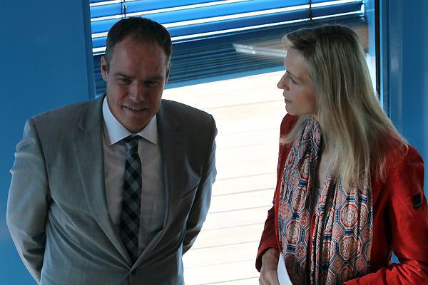 Inge im Gespräch mit Bürgermeister Würzner