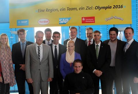 """Pressekonferenz """"Team Rio MRN"""", 16.10.2013, Heidelberg"""