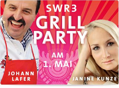 SWR3 Grillparty, 01.05.2014, 13:00-19:00 Uhr, SWR Fernsehen