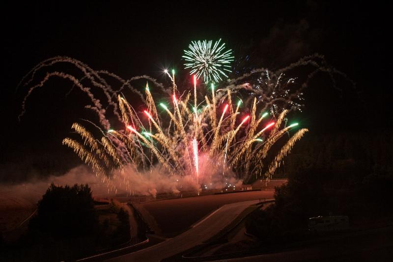 Feuerwerk am Ende der Show