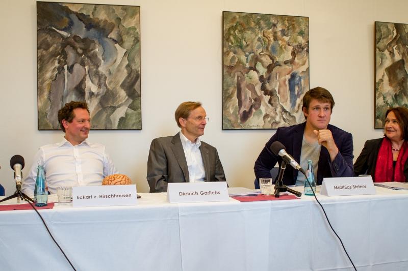 E. v. Hirschhausen, D.Garlichs, GF DDG, Matthias