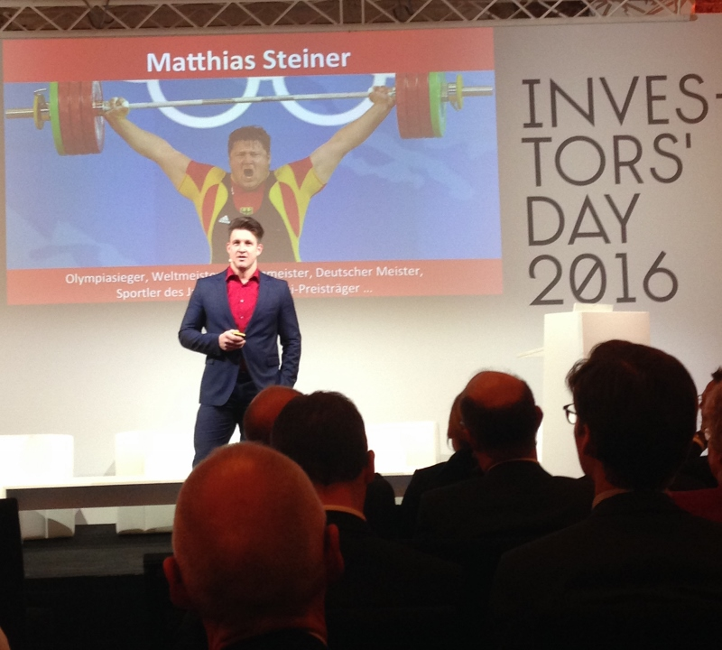 Key note speach auf dem Investors' Day